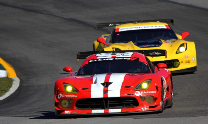 The Vipers won't be back for the 2015 TUSC season but the Corvettes will be—GTLM once again promises to offer some excellent racing. (Chris Jasurek/Epoch Times)