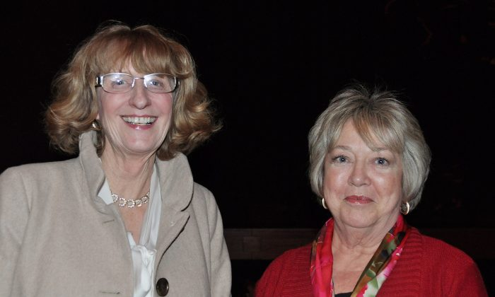 Andrea Green (L) and Elaine Connolly enjoyed Shen Yun's performance on its opening night at  the Winspear Opera House, on Jan. 9, 2015. (Amy Hu /Epoch Times)