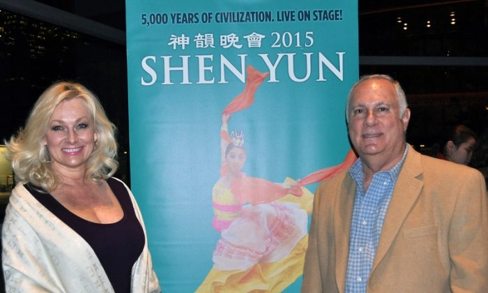 Debra and Chuck Carter enjoyed the performance by Shen Yun at the Winspear Opera House on Jan. 9, 2015. (Amy Hu/Epoch Times)