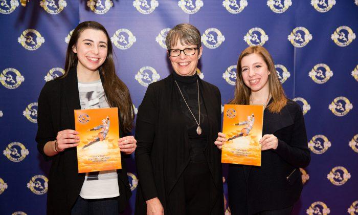 (L-R) Andria Carosielli, Luisa Sassano, and Cara Marie Carosielli enjoyed Shen Yun Performing Arts at Place des Arts in Montreal on Saturday evening, Jan. 10, 2015. (NTD Television)