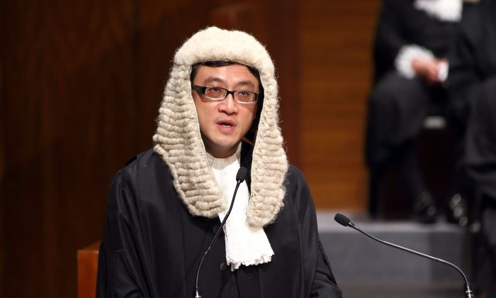 Outgoing president of the Hong Kong Bar Paul Shieh, on Jan. 13, 2014. (Poon Cai Zhu/Epoch Times)