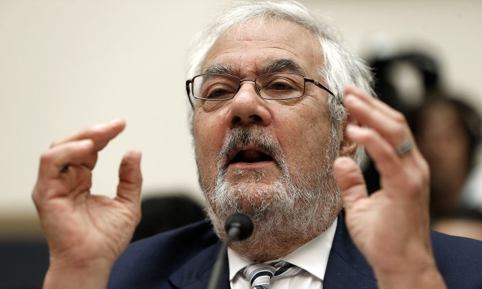 """Former House Financial Services Committee chairman Barney Frank (D-Mass.) testifies during the hearing on """"Assessing the Impact of the Dodd-Frank Act Four Years Later"""" before the House Financial Services Committee in Washington, D.C., on July 23, 2014. (Win McNamee/Getty Images)"""