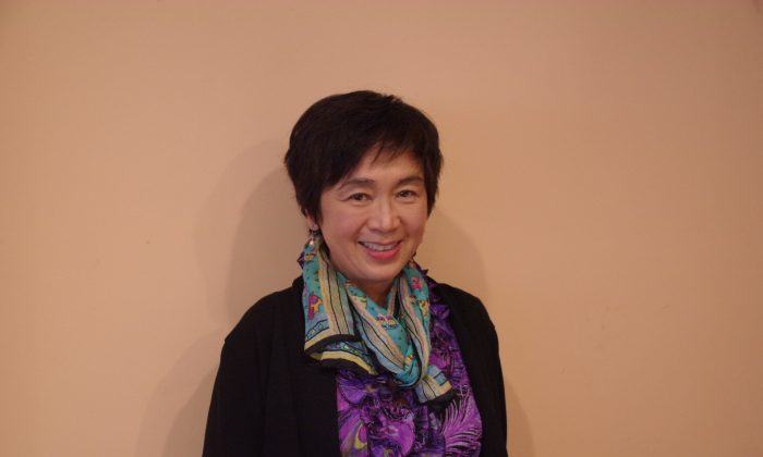 """Vera Lam, author of """"The Lonely American."""" (Jenny Liu/Epoch Times)"""