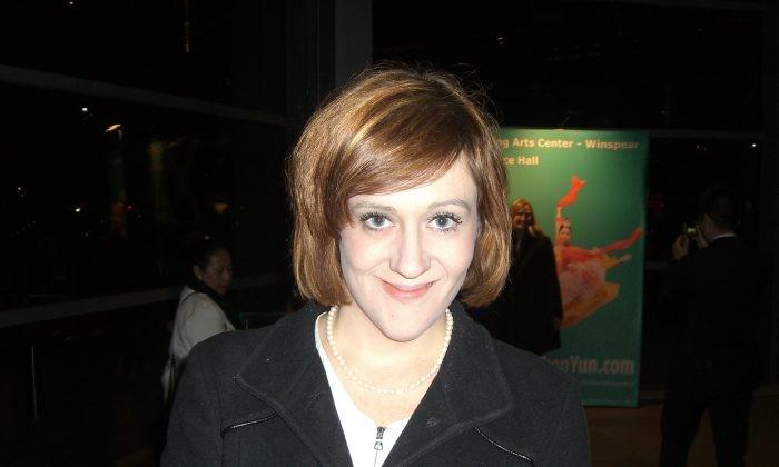 Maggie Oaks at the Winspear Opera House on Jan. 9, 2015. (Rich Rangel/Epoch TImes)