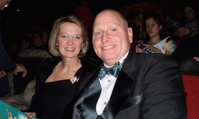 Kara and Mike Crabb attend Shen Yun Performing Arts at Indianapolis' Clowes Memorial Hall, on Jan. 16, 2015. (Peng Su/Epoch Times)