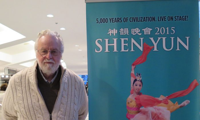 Lawyer Clive Ansley attends Shen Yun at the Queen Elizabeth Theatre in Vancouver on Jan. 18, 2015. (Christina Liao/Epoch Times)