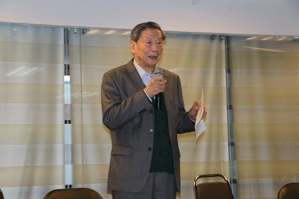 Chinese liberal economist Mao Yushi speaks in Beijing on Jan. 9, 2015. Freedom of speech is the most fundamental right in a society, he said. (Screenshot/unirule.org.cn)