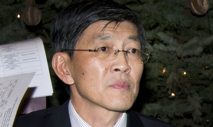 Ma Jisheng, then Chinese ambassador to Iceland, in a meeting at the Iceland's Foreign Ministry, in Reykjavik, on Dec. 18, 2012. Ma was taken away by the Ministry of State Security in early 2014 reported Sina. (Halldor Kolbeins/AFP/Getty Images)