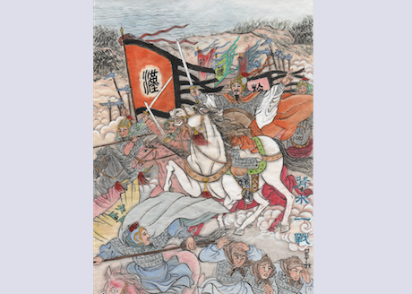 With a river behind them, Han Xin's soldiers had no choice but to fight desperately, and they eventually crushed the Zhao army. (Jane Ku/Epoch Times)