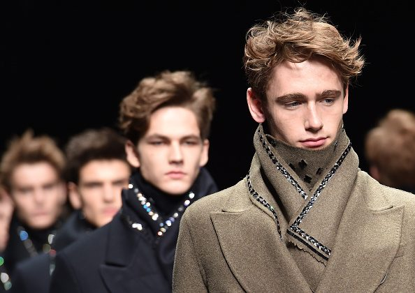 Models walk the runway during the Ermanno Scervino show as a part of Milan Menswear Fashion Week Fall Winter 2015/2016. (Stefania D'Alessandro/Getty Images)