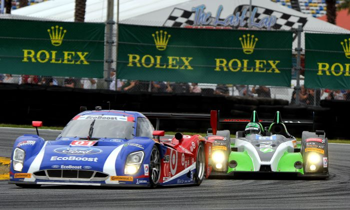 Ricky Taylor in the #10 WTR Dallara-Corvette led the race with 15.5 hours left. (Chris Jasurek/Epoch Times)