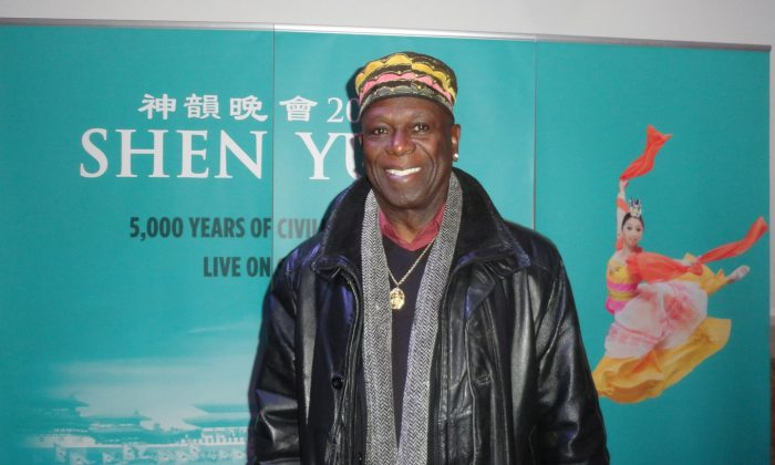 Henry Gomez, aka King Cosmos, said seeing Shen Yun at the Sony Centre on Jan 25, 2015, made him feel like a kid again. (Madalina Hubert/Epoch Times)