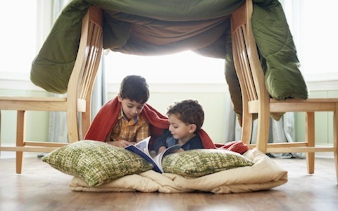 Forts give children a feeling of privacy and they may even disappear into them for a while. (Fuse/Thinkstock)