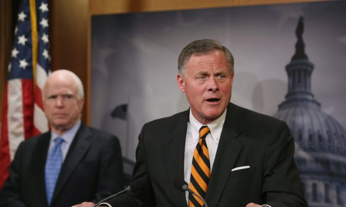 Sen. Richard Burr (R-NC) and other Senate Republicans have drafted a bill to substitute key parts of Obamacare, show here on Capitol Hill, June 3, 2014 in Washington, DC.(Mark Wilson/Getty Images)