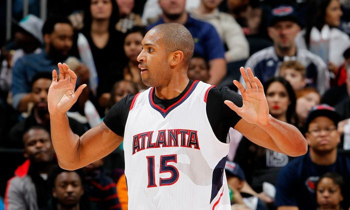 Al Horford #15 of the Atlanta Hawks against the Minnesota Timberwolves at Philips Arena on January 25, 2015 in Atlanta, Georgia. (Photo by Kevin C. Cox/Getty Images)