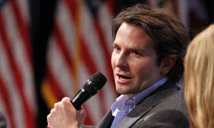 "Actor Bradley Cooper speaks on a panel during the launch event for ""Got Your 6,"" a multifaceted program that includes encouraging film and television to include characters who are veterans, Friday, Jan. 30, 2015, at the National Geographic Society in Washington. (AP Photo/Jacquelyn Martin)"