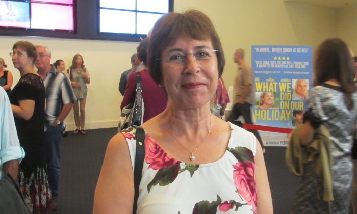 Marie Oldroyd enjoyed Shen Yun Performing Arts at The Arts Centre Gold Coast, on Feb. 1, 2015. (Epoch Times)