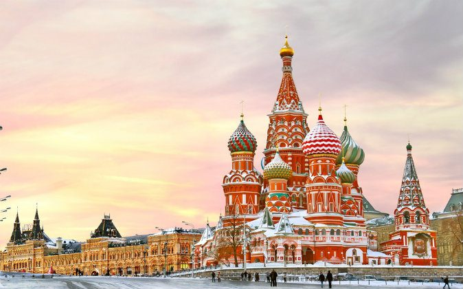 Moscow,Russia,Red square,view of St. Basil's Cathedral via Shutterstock*