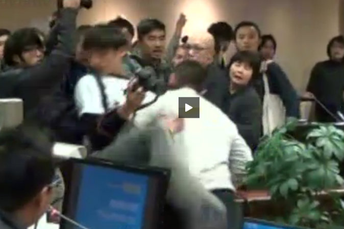 A Hong Kong Town Planner Body Slams Student on Camera and Gets Away With It