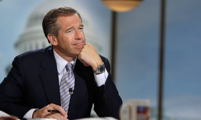 Brian Williams was a frequent guest on the talk show circuit. (Alex Wong/Getty Images for Meet the Press)
