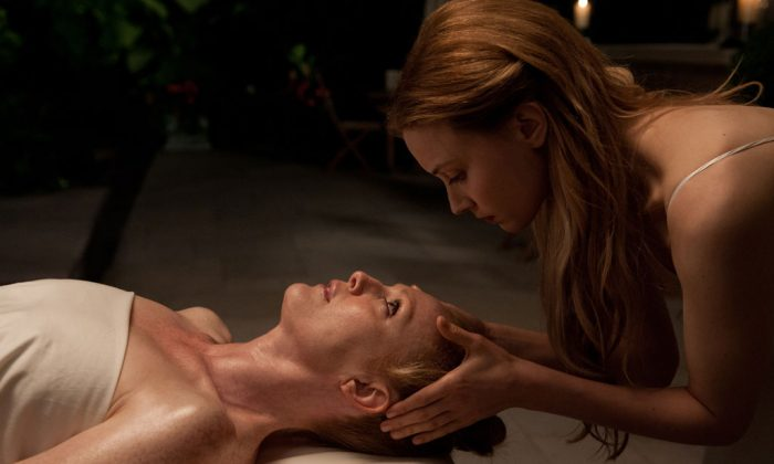 "Julianne Moore (L) and Sarah Gadon in ""Maps to the Stars."" (Focus Features)"