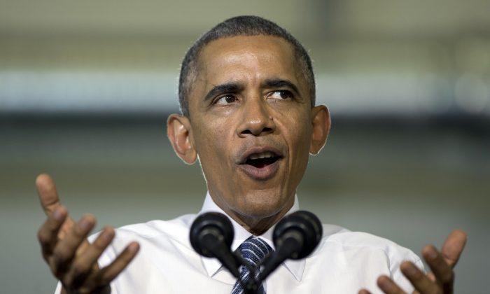 President Barack Obama speaks at Boise State University in Boise, Idaho, Jan. 21, 2015, just days before presenting a $4 trillion budget. (AP Photo/Carolyn Kaster)