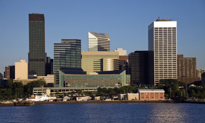 An afternoon view of Downtown Cleveland from the lake. (Dreamstime)