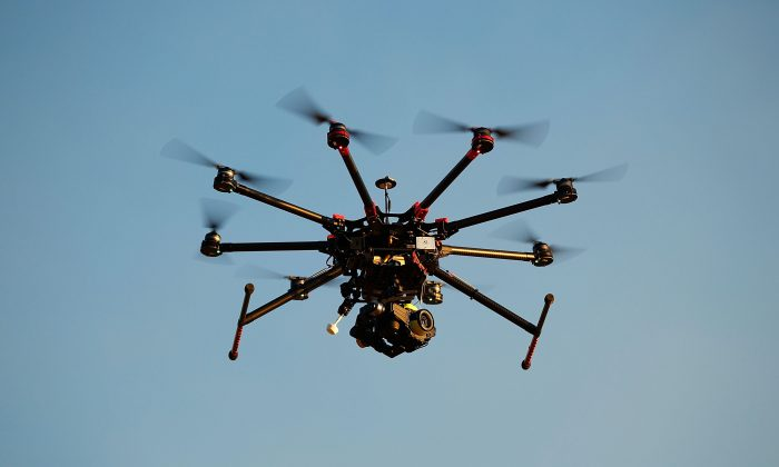 A custom built DJI s1000 Drone in operation at Palm Beach on July 4, 2014 in Sydney, Australia. (Brendon Thorne/Getty Images)