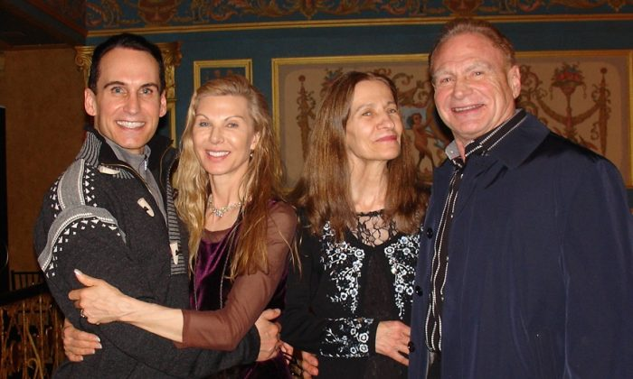 Mark Sims(L1) Janet Koprince(L2), Karen Spranger(R2) and Tim Sims(R1) at Shen Yun performing Arts in Detroit, on Feb. 4, 2015. ( Ying Wan/Epoch Times)