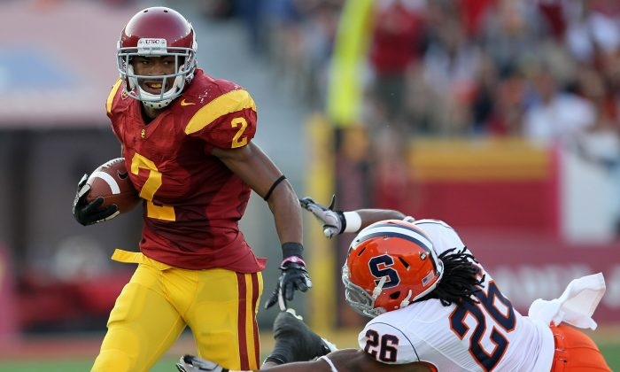 Wide receiver Robert Woods of the USC Trojans was rated as the sixth-best overall player in the class of 2010. (Stephen Dunn/Getty Images)