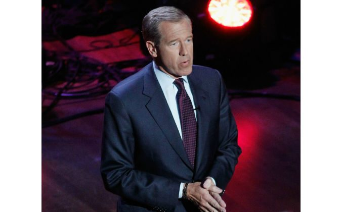 NBC Journalist Brian Williams hosts onstage at The Lincoln Awards: A Concert For Veterans & The Military Family, at the John F. Kennedy Center for the Performing Arts in Washington, D.C., on Jan. 7, 2015. (Paul Morigi/Getty Images for The Friars Club)