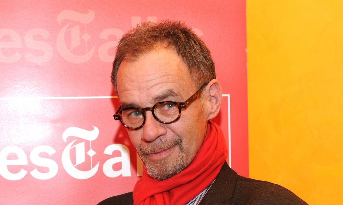 New York Times columnist David Carr attends an event at the New York Times headquarters building in Manhattan, on January 17, 2012. Carr passed away at the age of 58 Thursday evening.  (Photo by Jason Kempin/Getty Images)