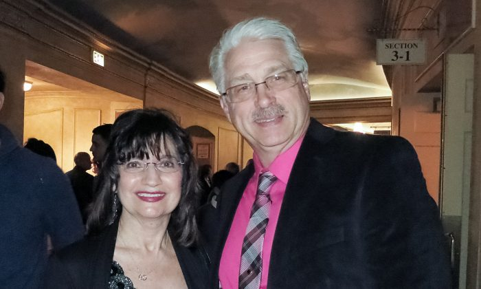 Al Risberg, site manager at Commonbond, and his wife, attended the opening night of Shen Yun Performing Arts, at the Orpheum Theatre, on Feb. 13, 2015. (Sally Sun/Epoch Times)