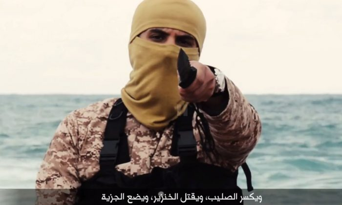 An ISIS militant in a screenshot of a propaganda video. (ISIS)