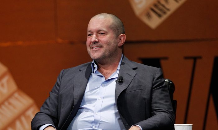Apple Senior Vice President of Design Jonathan Ive speaks onstage during 'Genius by Design' at the Vanity Fair New Establishment Summit at Yerba Buena Center for the Arts on October 9, 2014 in San Francisco, California. (Kimberly White/Getty Images for Vanity Fair)