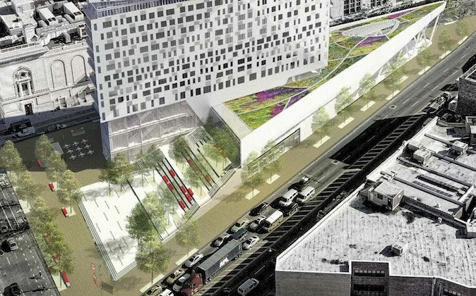 A planned green infrastructure project in Fort Greene, Brooklyn. Photo Credit: Two Trees Management