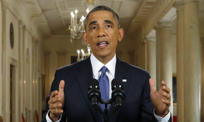 President Barack Obama announces executive actions on U.S. immigration policy during a nationally televised address from the White House, November 20, 2014 in Washington, DC. On Monday, a federal order ordered all federal agencies to stop its implementation of Obama's executive immigration policies. (Jim Bourg-Pool/Getty Images)