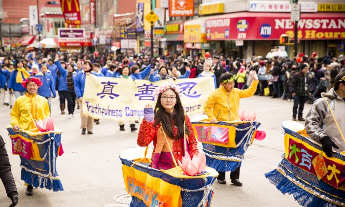 Lunar New Year (Chinese New Year) Celebrations in Flushing, New York on Feb. 8, 2014. (Edward Dai/Epoch Times)