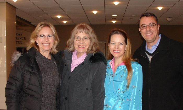 Dr. Winkler (R) attended Shen Yun Performing Arts with his mother-in-law, sister-in-law, and wife, on Feb. 15, 2015. (Ying Wan/Epoch Times)
