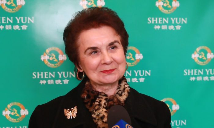 Ms. Julia Nagy enjoyed watching Shen Yun Performing Arts for the second year in a row at the DeVos Performance Hall, in Grand Rapids, on Feb. 15, 2015. (Courtesy of NTD Television)