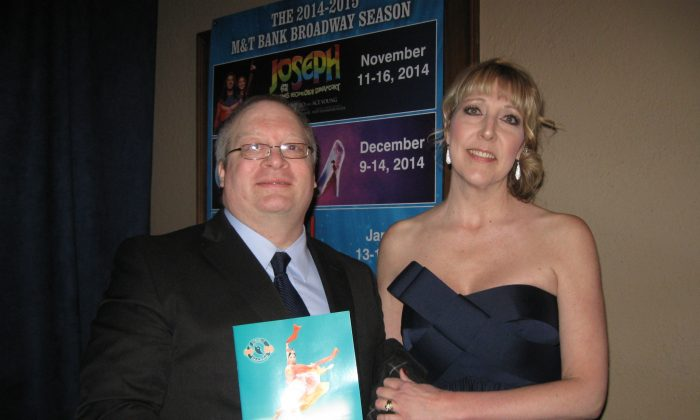"""James and Amy Case enjoyed Shen Yun Performing Arts at its opening night in Rochester at the Auditorium Theatre on Saturday night, Feb. 21, 2015. """"There are no words to describe how wonderful it was,"""" Mrs. Case said. """"It just left you speechless, it left you wanting more, it left you just in awe of the performers and their abilities and athleticism and the talent of it all."""" (Allen Zhou/Epoch Times)"""