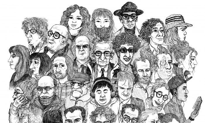 Spike Zephaniah Stephenson's illustrations of people on the Tube. (Courtesy of Spike Zephaniah Stephenson)