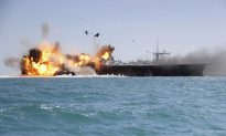 See Iran Destroy a Fake US Aircraft Carrier in Strait of Hormuz