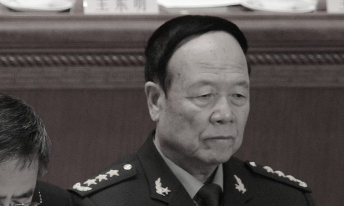 Former vice chairman of the Central Military Commission Guo Boxiong attends a political meeting in Beijing on March 5, 2013. (Goh Chai Hin/AFP/Getty Images)