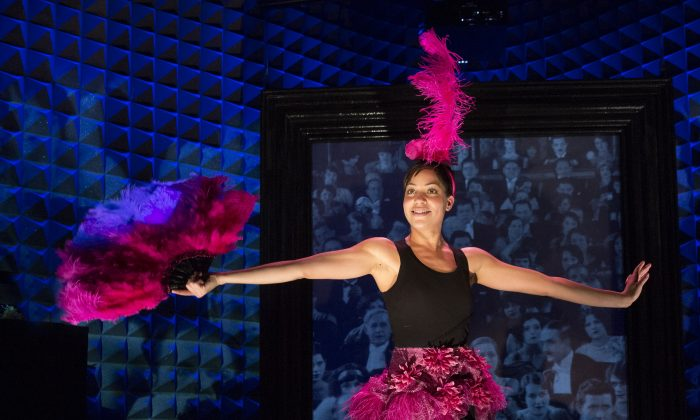 """Cush Jumbo in """"Josephine and I,"""" written and performed by Cush Jumbo and directed by Phyllida Lloyd, is running at Joe's Pub at The Public. (Joan Marcus)"""
