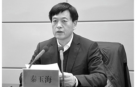 Qin Yuhai, Party Secretary and vice director of the standing committee of the National People's Congress in Henan. (Screenshot from Henan Government website)