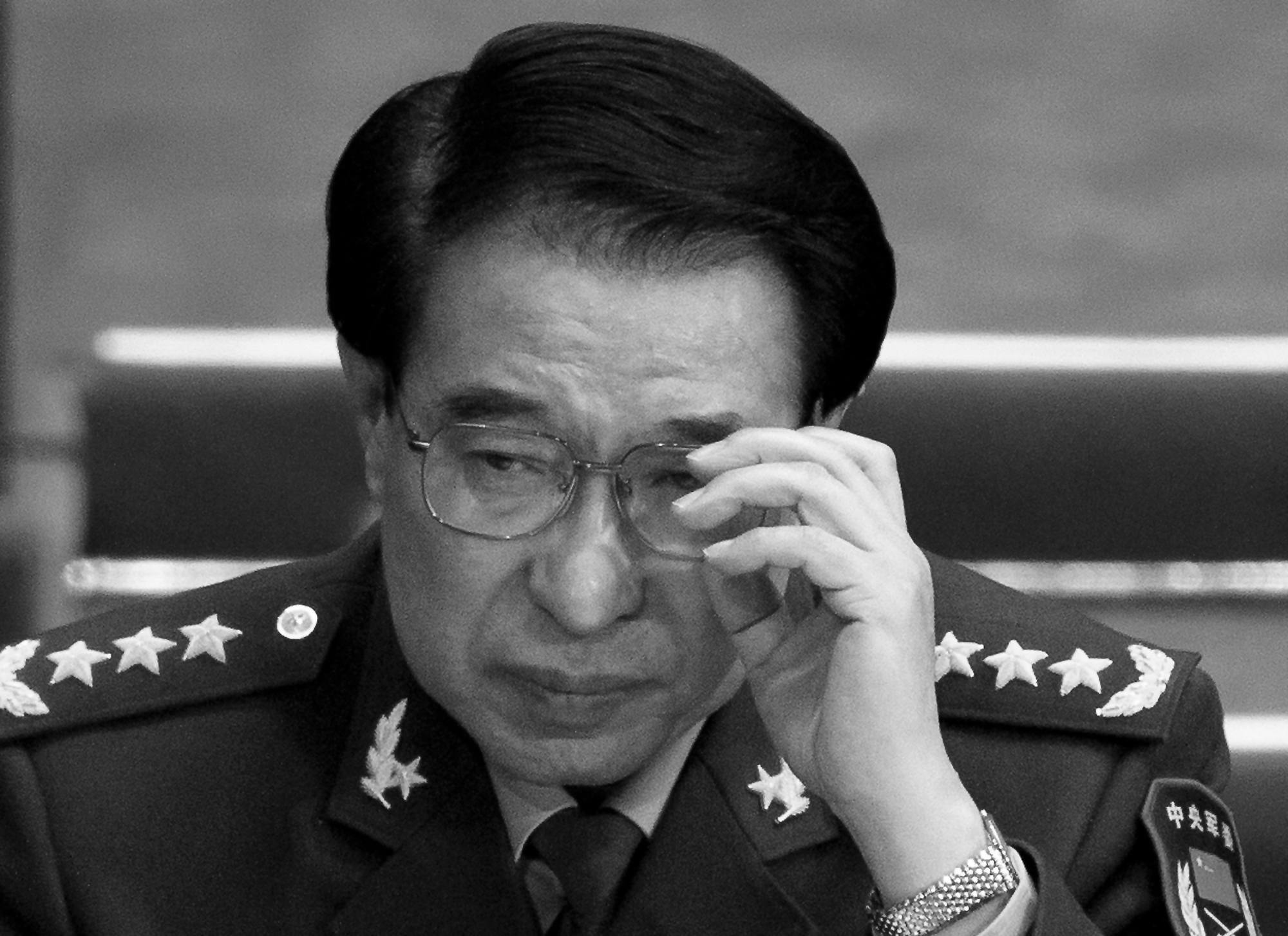 Xu Caihou, the late chairman of the CPC Central Military Commission, attends a plenary session National People's Congress at the Great Hall of the People in Beijing, China, on March 11, 2012. (AP Photo/Andy Wong)