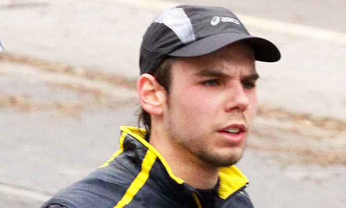 Andreas Lubitz participates in the Frankfurt City Half-Marathon on March 14, 2010 in Frankfurt, Germany. (Getty Images)