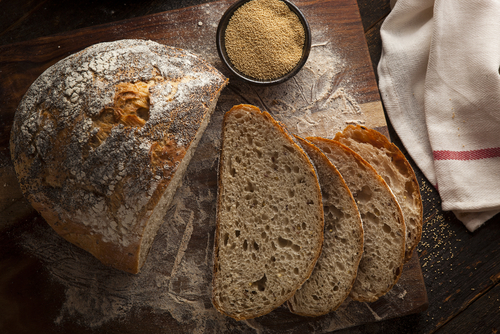 Amaranth flour can be mixed with other grains to make bread. Too much amaranth makes baked goods too dense. (Shutterstock)