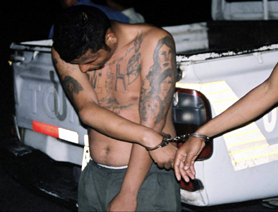 MS-13 suspect in custody. (Courtesy FBI)